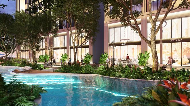 Không gian xanh bên trong dự án Feliz Homes Hoàng Mai