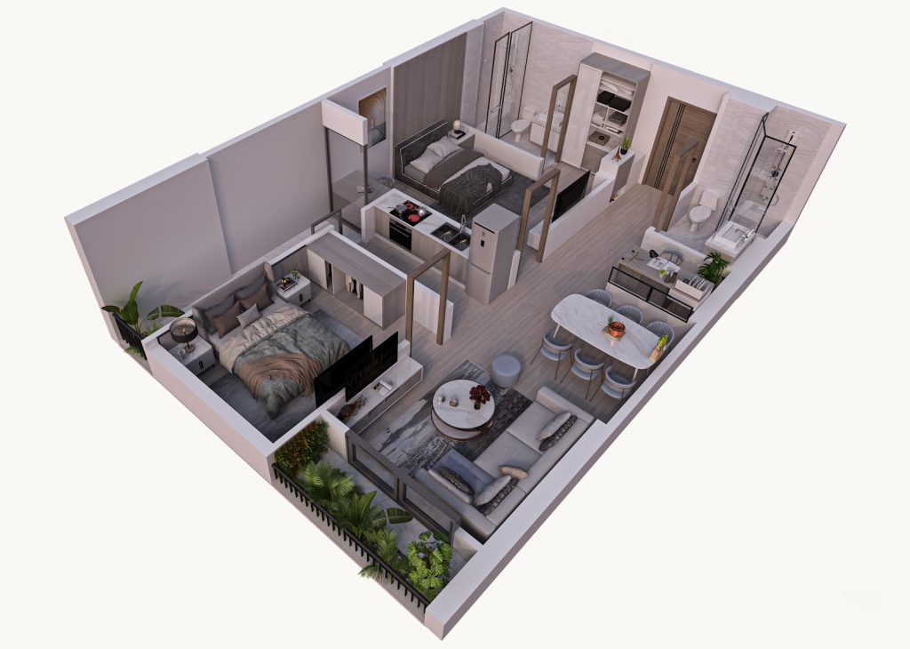 Căn hộ chung cư Feliz Homes gây ấn tượng với khách hàng nhờ vào thiết kế
